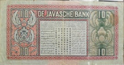 10 Gulden (De Javasche Bank) – revers