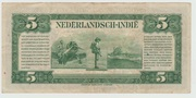 5 Guilders Netherlans Indies 1943 – revers