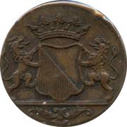 1 duit VOC (Utrecht) – avers