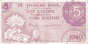 5 Gulden/Roepiah – avers