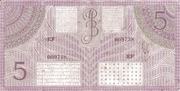 5 Gulden/Roepiah – revers