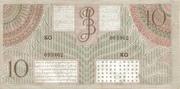 10 Gulden/Roepiah – revers