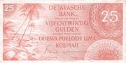 25 Gulden/Roepiah – avers