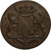 2 duits (Utrecht) – avers