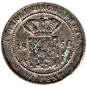 ½ cent - Willem III – revers
