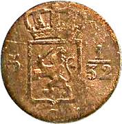 ½ duit - Willem I (Surabaya) – avers