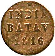½ duit - Willem I (Surabaya) – revers
