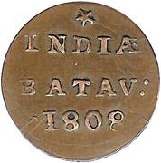 ½ duit (République de Batavian) – revers