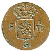 1/16 gulden (Batavia) – avers