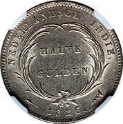 ½ gulden - Willem I – revers