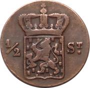 ½ stuiver - Willem I (Surabaya) – avers