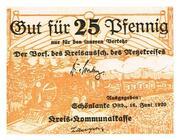 25 Pfennig (Netzekreis) – avers