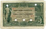 500 francs (Banque Cantonale Neuchâteloise) -  avers