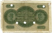 500 francs (Banque Cantonale Neuchâteloise) -  revers