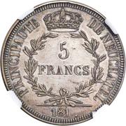 5 francs - Alexandre Berthier – revers
