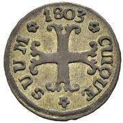 ½ Kreuzer - Friedrich Wilhelm III – revers
