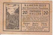 20 Heller (Neuhaus) – avers