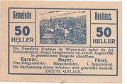 50 Heller (Neuhaus) – avers