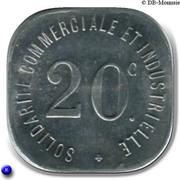 20 Centimes - Solidarité Commerciale et Industrielle - Neuilly sur Seine [92] – revers