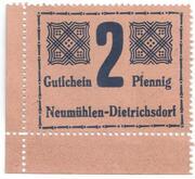 2 Pfennig (Neumühlen-Dietrichsdorf) – avers