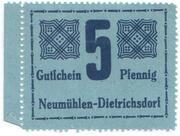 5 Pfennig (Neumühlen-Dietrichsdorf) – avers
