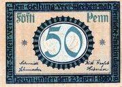 50 Pfennig (Neumünster) – avers