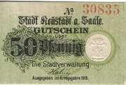 50 Pfennig (Stadt Neustadt a. Saale) – avers