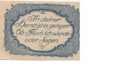25 Pfennig (Bezirkssparkasse) – revers