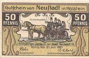50 Pfennig (Neustadt i. Holstein) – avers
