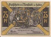 75 Pfennig (Neustadt i. Holstein) – avers