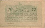 10 Heller (Neustadtl an der Donau, Nabegg, Judenhof, Windpassing, Klein Wolfstein) – revers