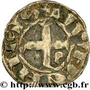 Denier - Eudes de Bourgogne (1262-1265) – revers
