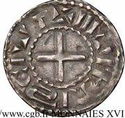 Denier nivernais - immobilisation au nom de Louis IV d'Outremer – revers