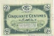 50 centimes - Chambre de Commerce de Nevers [58] (3e-4e séries) – revers