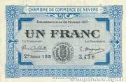 1 franc - Chambre de Commerce de Nevers [58] (1e-2e série) – avers
