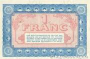 1 franc - Chambre de Commerce de Nevers [58] (1e-2e série) – revers
