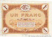 1 franc - Chambre de Commerce de Nevers [58] (3e-4e série) – revers