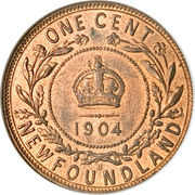 1 cent Edouard VII – revers