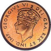 1 cent George VI – avers