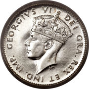 5 cents George VI – avers