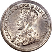 10 cents George V – avers