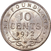 10 cents George V – revers
