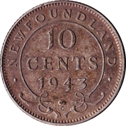 10 cents George VI – revers