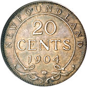 20 cents Edouard VII – revers