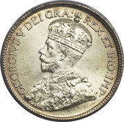 25 cents George V – avers