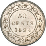 50 cents Victoria – revers