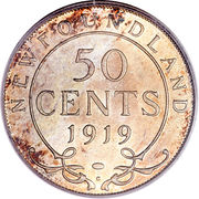 50 cents George V -  revers