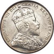50 cents Edouard VII -  avers