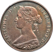 1 Cent - Victoria (Essai) – avers