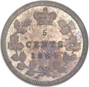 5 Cents - Victoria (Essai) – revers